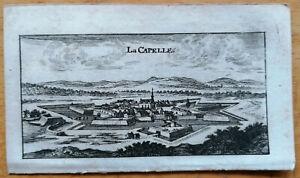 Riegel Original Kupferstich Frankreich La Capelle - 1689