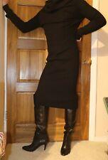 "LINE & DOT ""Lea"" off the shoulder / cowl neck black sweater dress - size L"