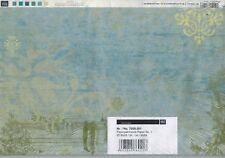 RI-7009-001 Paperpatchwork-Papier - blau/grün - 25 Bögen - je 30 x 39 cm