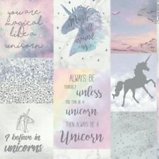 BELIEVE IN UNICORNS GLITTER METALLIC WALLPAPER GIRLS ARTHOUSE 698300
