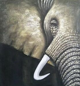 Amazing Elephant Wall Painting on Canvas