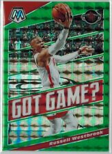 2019-20 Panini Mosaic #8 russell westbrook Got Game Green Silver Rockets