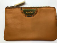 Mimco Echo Honey Tan leather pouch clutch wallet AUTHENTIC small iPhone size