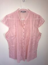 Pre-loved Ladies size 16 Lovely Pink Cotton Top by Hot Options