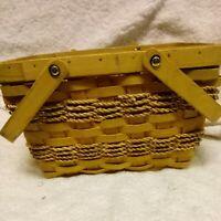 Wicker/Rattan Caddy Holder Picnic Accessory Basket