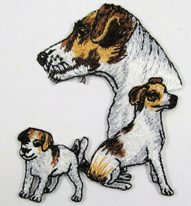 Jack Russell terrier heat seal embroidered badge