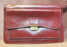 "Unisex Burgundy Red Maroon Leather Case Wallet Passport Phone 9"" x 6"""