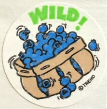 Vintage 80s Matte Trend Scratch & Sniff Sticker - Blueberries - Mint!!