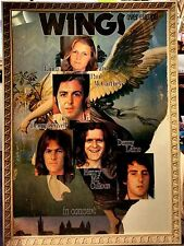 WINGS OVER EUROPE SCARCE 1972 DEBUT TOUR POSTER IN FRENCH FRAME * PAUL McCARTNEY