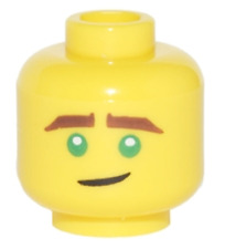 Lego New Minifigure Crooked Smile Pattern Lloyd Green Eyes Ninjago Piece