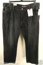 IZOD MENS NEW $75 RELAXED FIT STRAIGHT LEG Big & Tall RINSE WASH JEANS 52 X 30