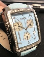 New Ladies Giantto Blue Dial Blue Leather Strap Chronograph Watch