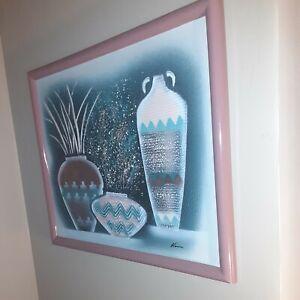 Vase set of 3,on Canvas.