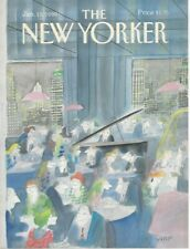 COVER ONLY ~The New Yorker magazine ~January 15, 1990 ~ Sempe Sempé ~ Piano bar
