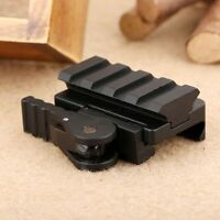 Tactical Compact 4 Slots QD Quick Release Mount Adapter 20mm Picatinny Rail Base