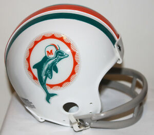 1972 Miami Dolphins Bob Griese Custom Riddell Mini Helmet with 2 Bar Facemask