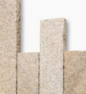Palisaden, Kantensteine, Granit gelb - Größe wählbar - gespalten + gespitzt