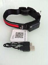 Safety Glo LED Hundehalsband S/M Verstellbar Aufladbar Solar USB Leuchthalsband