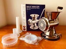 Manual Meat Mincer Grinder w/Handle HomeKitchen Meat Maker - New