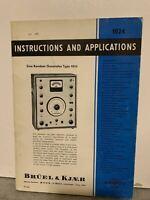 ORIGINAL Bruel & Kjaer 1024 Sine Random Generator INSTRUCTION MANUAL RARE