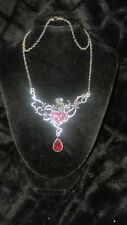 Blood Rose Thorny Heart Necklace