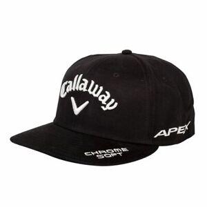 CALLAWAY 2017 EPIC/APEX CS LOGO FLAT BRIM SNAP BACK CAP BLACK ADJUSTABLE NEW