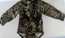 Realtree Camo Baby Snap Diaper Shirt, Boys Camouflage Easy On Long Sleeve