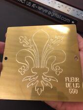 Fancy Fleur De Lis Master Template Brass Master Plate New Hermes Font Tray