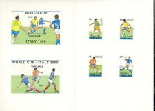 Tanzania #518-523 World Cup Soccer 4v & 2v S/S Imperf Proofs in Folder