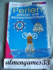 RAR ★ Advent Weihnachsschmuck aus Perlen Kaune Lützner ★  filigran Shabby