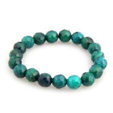 Chrysocolla Beads Balls Elastic Stretch Bracelet Chain S8W2