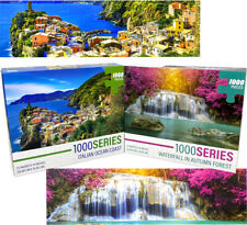 2000pcs Jigsaw Puzzle -Landscape Italian Ocean Coast, Waterfall in Autumn Forest