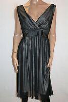 MODA Brand Black Cream Mesh Empire Dress Size 16 BNWT #TL93