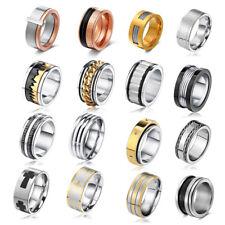 316L Stainless Steel Men/Women CZ Wedding Ring Titanium Engagement Band Rings