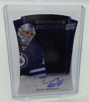 2015-16 Upper Deck Contours #142 Connor Hellebuyck RC Auto Jersey 024 /199