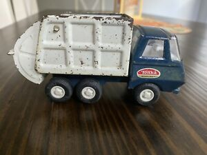 Vintage Blue and White Metal Tonka Garbage Truck. Awesome Piece For Restoration
