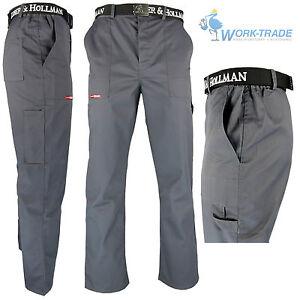 Arbeitshose Bundhose Grau Arbeitskleidung Hose Blaumann OVP Gr. 48 - 62 NEU TOP