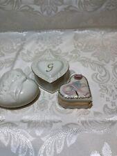 Set of 3 Lenox Trinket Boxes Heart