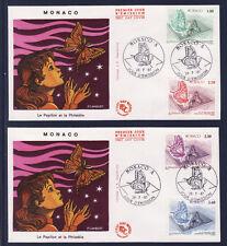 MONACO   enveloppe 1er jour   expo philatélique 28/07    papillons  1987