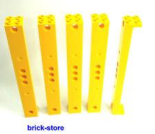 LEGO TRAINS (60052) jaune COLONNE/ poteau/ Pilier/ Pylône/ 5 pièces