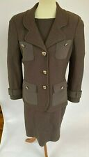 ST. JOHN Size 10 Brown Dress and Jacket NWT