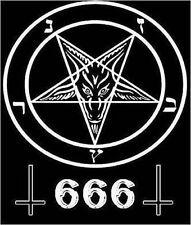Occult Pentagram 666 Inverted Cross Satan Wicca Sticker or Magnet