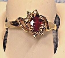 LADIES BEAUTIFUL  RUBY DESIGNED RING IN 14K YELLOW GOLD  RETAIL $ 1098.00
