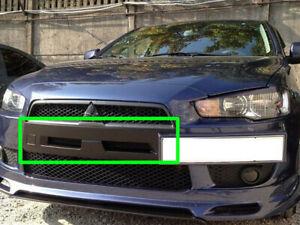 For Mitsubishi Lancer Sportback EVO Style Black Cover for Front Bumper Grille