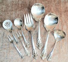 8-Piece WALLACE GRANDE BAROQUE Sterling Silver LARGE SERVING SET 600.6g