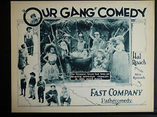 1924 OUR GANG LOBBY CARD IN EXC. COND. - RARE SILENT EARLY LITTLE RASCALS ROACH