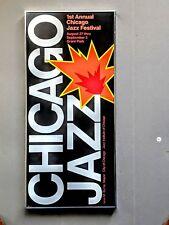 Framed Poster of First Ever Chicago Jazz Festival (Mel Torme & Benny Goodman)