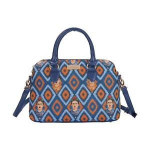 FRIDA KAHLO ICON TRIPLE COMPARTMENT BAG SIGNARE TAPESTRY CANVAS WOMEN PRESENT