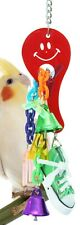1800 HAPPY SNEAKER BIRD TOY parrot cage toys cages cockatiels conure parakeet
