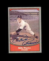 Billy Pierce Hand Signed 1990 Pacific Chicago White Sox Autograph